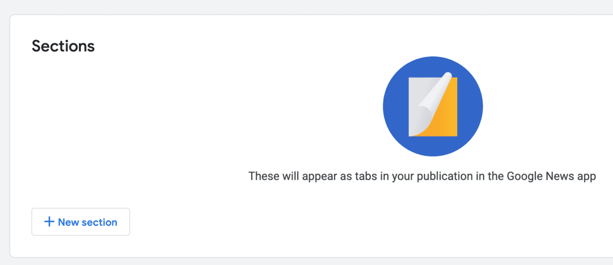 add google news sections